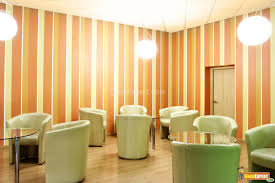 Wall Paint Ideas Magnificent Orange Striped Wall Paint Design With Fabulous Hanging