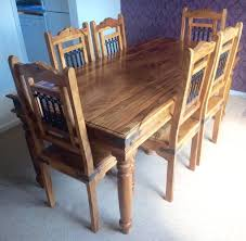 Jali Dining Table And Chairs Sheesham Wood Dining Table Best Gallery Of Tables Furniture