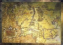 map from lord of the rings the lord of the rings the hobbit map of middle