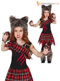 Ebay Halloween Props Girls Scottish Wolf Costume Childs Werewolf Halloween Fancy Dress