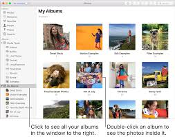 my photo album what are albums in photos on mac apple support