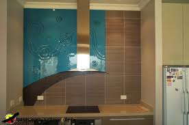 blue splashback with curved tiles wathaurong glass