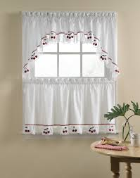 Red And White Curtains For Kitchen by Curtain Cute Interior Home Decorating Ideas With Cafe Curtains