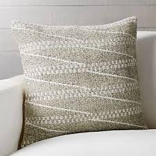 Burlap Decorative Pillows Throw Pillows Decorative And Accent Crate And Barrel
