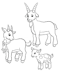 free coloring pages goats coloring pages of farm animals download coloring pages farm animals