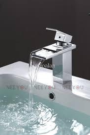 2018 sell bathroom deck mounted waterfall basin faucet luxury