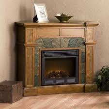 Oak Corner Fireplace by Harper Blvd Hollandale Mission Oak Electric Fireplace Brown Glass