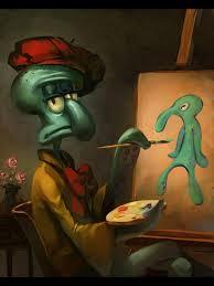 a spongebob fan drew this squidward self portrait and it u0027s