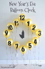 New Years Eve Balloon Decorations by New Year U0027s Eve Balloon Clock Countdown Decoration