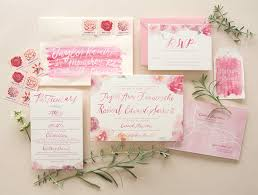 watercolor wedding invitations pink floral watercolor wedding invitations