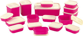 Pink Kitchen Canisters Flipkart 17 Piece Container Set At Just Rs 299 Catchmycoupon