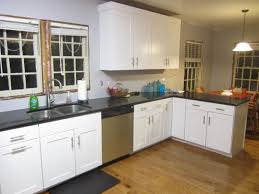 interior wooden types of kitchen flooring with white marble