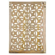 buy the small carved wood wall panel by ashland at