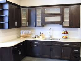 Brown Wooden Cabinet Kitchen Brown Wood Kitchen Cabinets Electric Stove Brown Kitchen