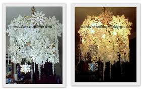 make the best of things glittery silvery snowflake chandelier diy