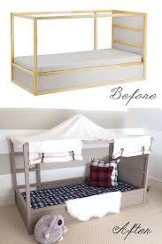 ikea deco chambre ikea kura bed hack diy boy canopy bed chambre enfant chambres et