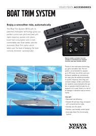 boat trim system volvo penta pdf catalogues documentation