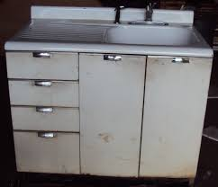 Metal Cabinets Kitchen Vintage Kitchen Sink Cabinet Enamel Steel W Drawers Vintage