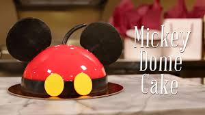 mickey mouse halloween cake video u2013 mickey dome cake at amorette u0027s patisserie disney parks blog