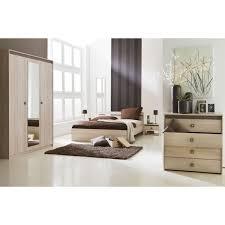 chambre acacia lit 140x190cm décor acacia et taupe moulin des affaires