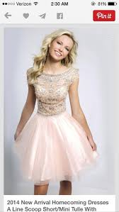 dress a line scoop short tulle skirt light pink homecoming