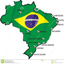 What Colour Is Brazil Flag Map Of Brazil Cities My Blog Map Of Brazil Country Outline With