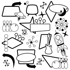 themed signs vector set of 1950s or retro themed signs stock vector