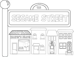 sesame street coloring pages character printable images pdf