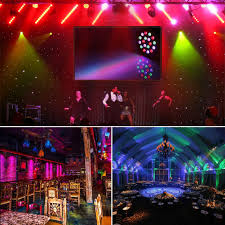 halloween light effects amazon com lalucenatz 18led par lights for stage lighting with