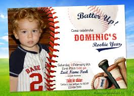 Personalized Birthday Invitation Cards Baseball First Birthday Invitations Rookie Party Invitation