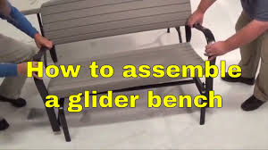 lifetime 2871 rocking glider 4 u0027 bench assembly youtube