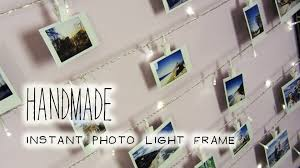 lights on wall with pictures handmade polaroid photo wall string light frame youtube