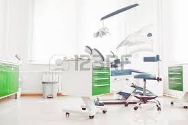 Dental Hospital Interior Design Dental Clinic Interior Design With Red Chair And Tools Stock Photo