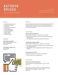 Cool Resume Templates For Mac Orange Icon Creative Resume Templates By Canva