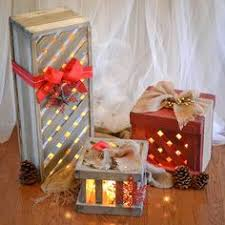 Decorative Christmas Boxes Light Up by Down To Earth Style Wood Box Gift Decor Holiday Decor