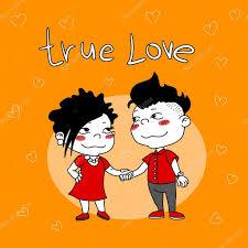 imagenes animadas sobre amor tarjeta con la pareja de dibujos animados en el amor archivo