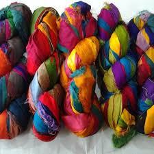 sari silk ribbon recycled sari silk ribbon yarn 50 yards by willowmistacres on etsy