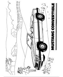 bluebonkers 1983 ford mustang lx convertible coloring pages