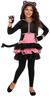 Black Cat Halloween Costume Kids Black Kitty Hoodie Costume Halloween Costumes