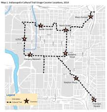 Map Indianapolis Impact Of The Indianapolis Cultural Trail A Legacy Of Gene And
