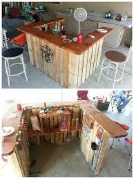 backyard pallet western themed bar garden rake shotguns and pallets