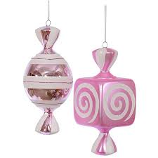 pink large ornaments 8 inch 2 box candywarehouse