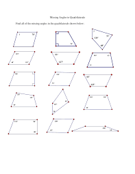 angles in quadrilaterals worksheet free worksheets library