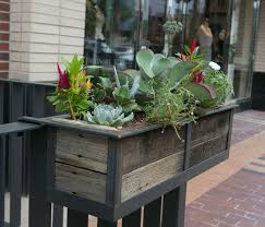 Modern Hanging Planters by Modern Railing Planters Custom By Rushton