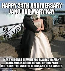 May The Force Be With You Meme - meme creator happy 24th anniversary jano and mary kay may the