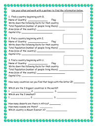 atlas scavenger hunt by victoria1987 teaching resources tes