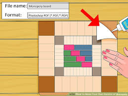 monopoly map how to your own version of monopoly with pictures wikihow