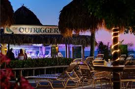 tiki bar at sunset the outrigger fort myers beach florida
