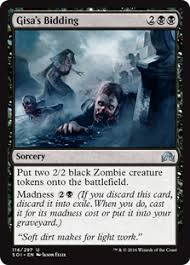 card search search black zombie creature token gatherer