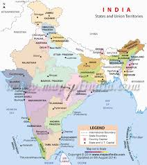 India Physical Map by India Political Map Enlarged View